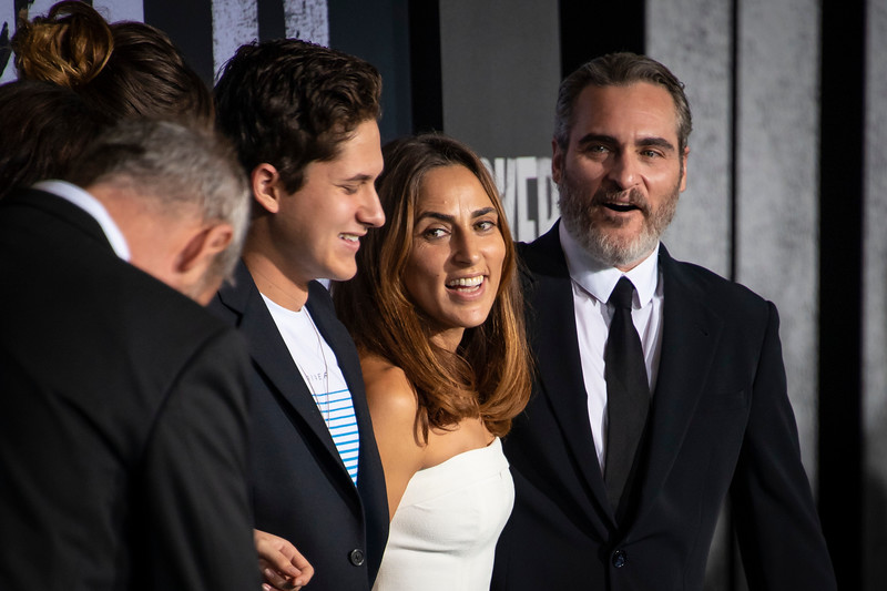 "HOLLYWOOD, CALIFORNIA - SEPTEMBER 28: XXXXX, Summer Phoenix and  Joaquin Phoenix attend the premiere of Warner Bros Pictures ""Joker"" on Saturday, September 28, 2019 in Hollywood, California. (Photo by Tom Sorensen/Moovieboy Pictures)"