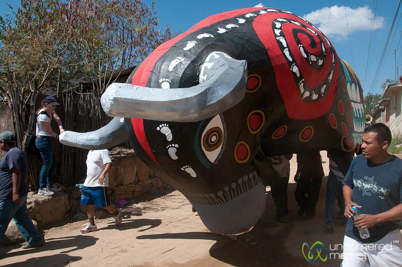 Bull Charging Corner - Carnaval in San Martin Tilcajete, Mexico