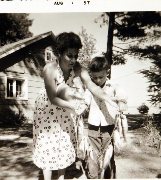 Aunt Julia and George fishing.JPG