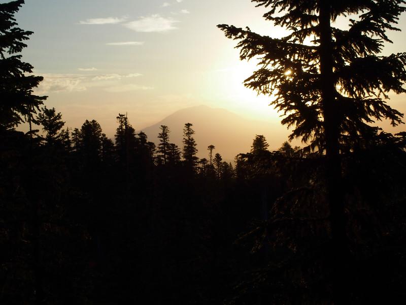 Looking east toward Mt Adams and the sunrise.