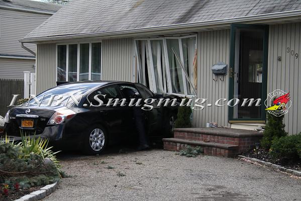 North Lindenhurst F.D. Car vs House 309 49th St 4-27-12