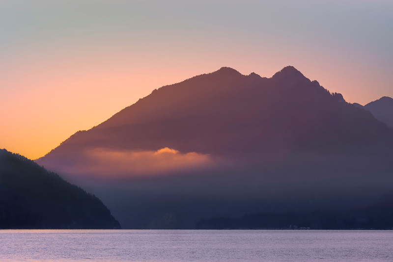 Sunrise, Lake Crescent, Olympic National Park, Washington