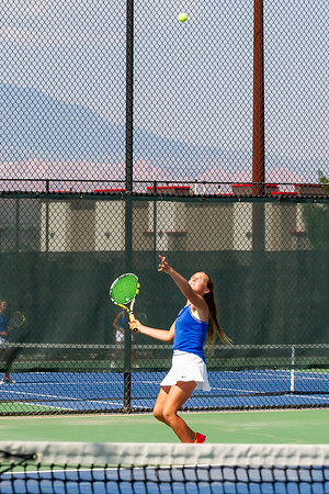 2020-08-25 Dixie HS Girls Tennis vs Desert Hills
