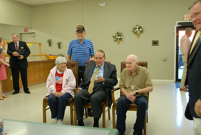 Sen. Bob Dole visits Osage City, Kansas, July 15, 2014