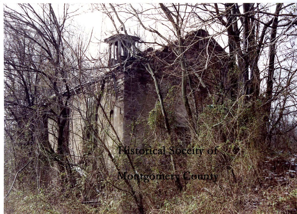 . This photo from the Historical Society of Montgomery County shows the ruins of a school house that was located at Militia Hill Road and Stenton Avenue in Whitemarsh.  The photo was taken in 1992.