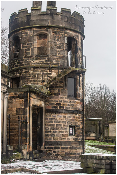New Calton Burial Ground - the watch tower