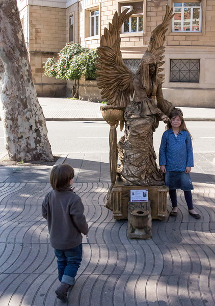 Barcelona, Angel on La Rambla.