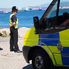The Royal Gibraltar Police patrols watch over the shorelines at the western end of the Rock suported by patrol vans and maritime resources in what is a major clampdown on toabcco activity in the area.