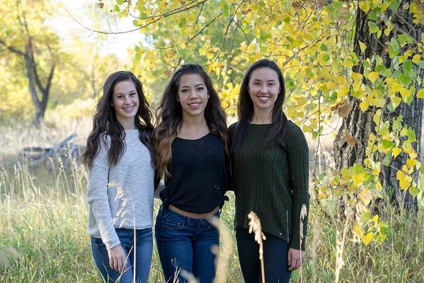 Faith, Audrianna and Hallie fall 2016