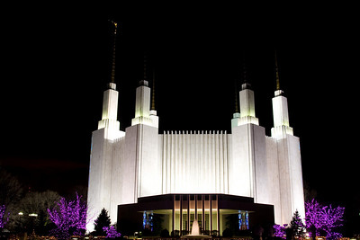 "Washington Mormon Temple ""Festival of Lights"" -- Dec 28, 2008"