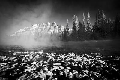 """Emergence"", Castle Mountain in winter, Banff National Park, Alberta, Canada."