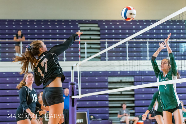 Broughton volleyball vs Green Hope. August 21, 2018.