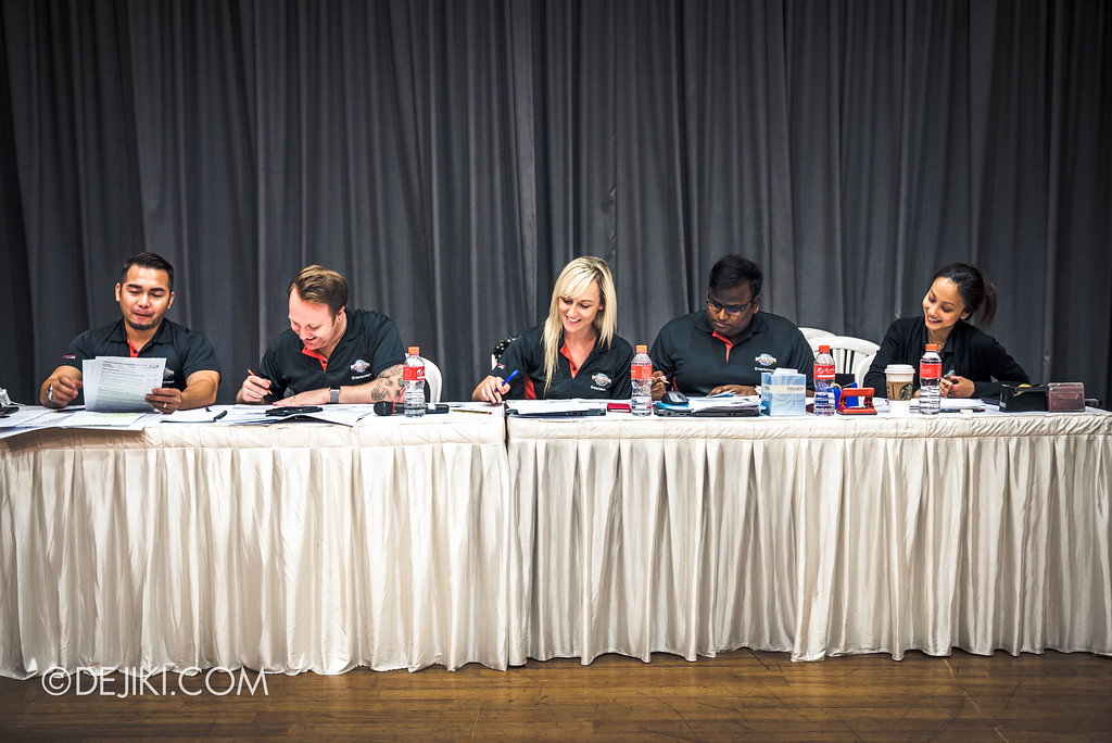 Universal Studios Singapore - Halloween Horror Nights 7 - The Auditions, facing the panel