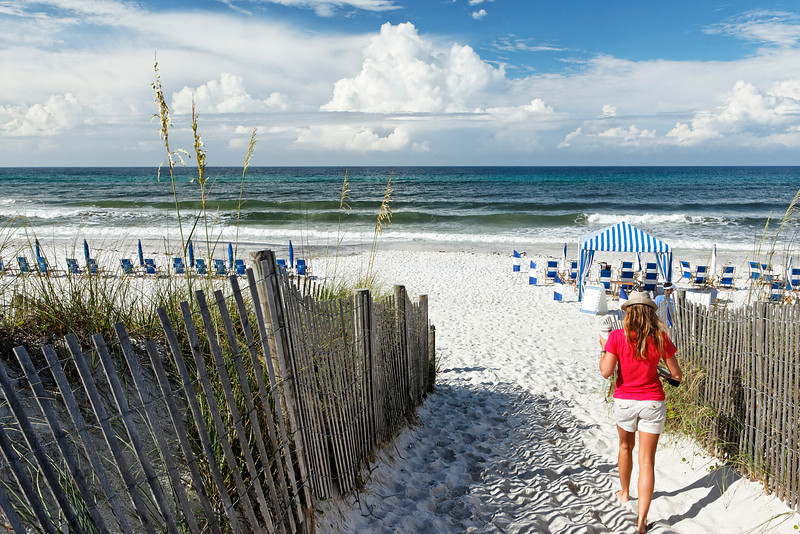 Beachgoer - Seaside, Florida