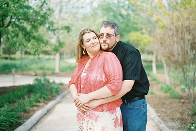 Amanda and Danny's film engagement photos by Kammi