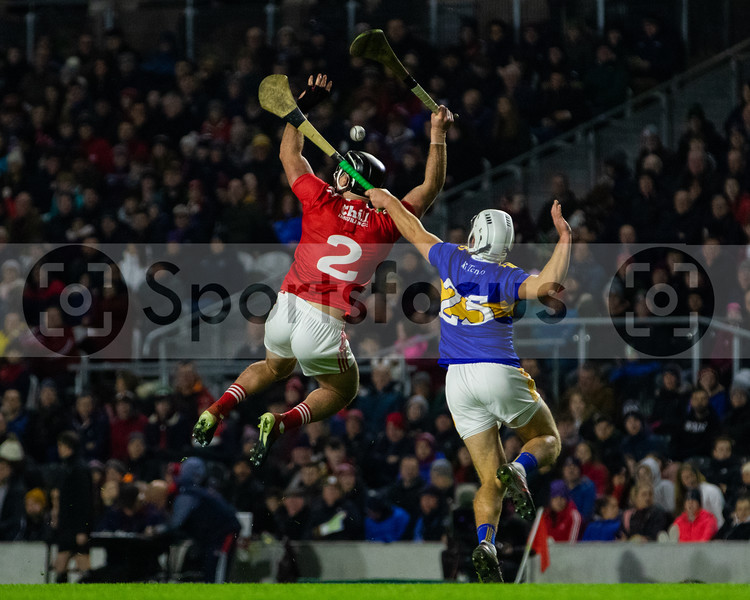Cork's Colm Spillane and Tipperary's Niall O'Meara