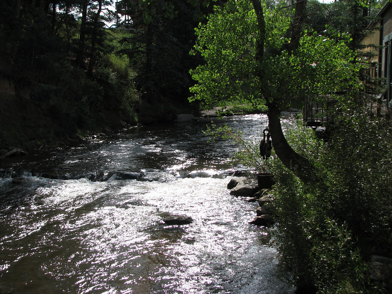 Larger view of the creek.