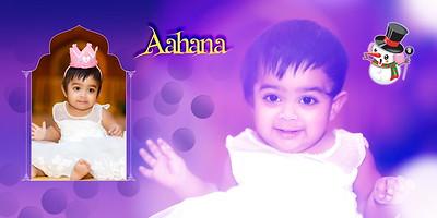 Happy 1st Birthday Aahana