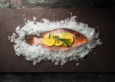 Red Fish with Lemons & Rosemary
