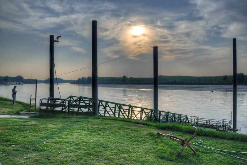 Po River Sunset - Lido Po, Guastalla, Reggio Emilia, Italy - September 29, 2011