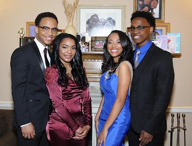 Jasmyn, Jamila, Sedrick, Brian - Senior Prom - Bishop McNamara High School 5-21-2016