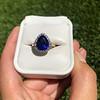 7.00ctw Tanzanite and Diamond Halo Ring 22