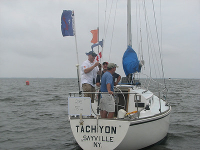 J/24 Sailing at Sayville Yacht Club, June 12, 2010
