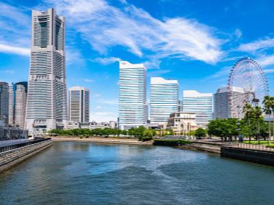 A view of the skyline in the Minato Mirai district in Yokohama, image copyright okimo / Shutterstock.com