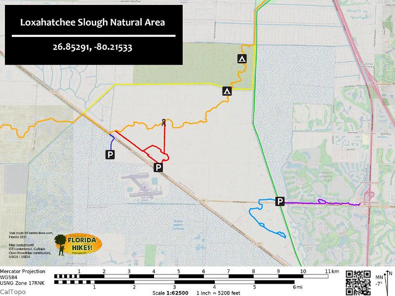 Loxahatchee Slough Trail Map