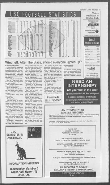 Daily Trojan, Vol. 121, No. 26, October 06, 1993