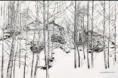 """""""Winter days"""" (felt-tip pen) by Weirong Guan"""