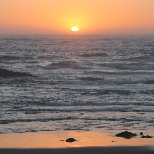 Sunset in Mendocino
