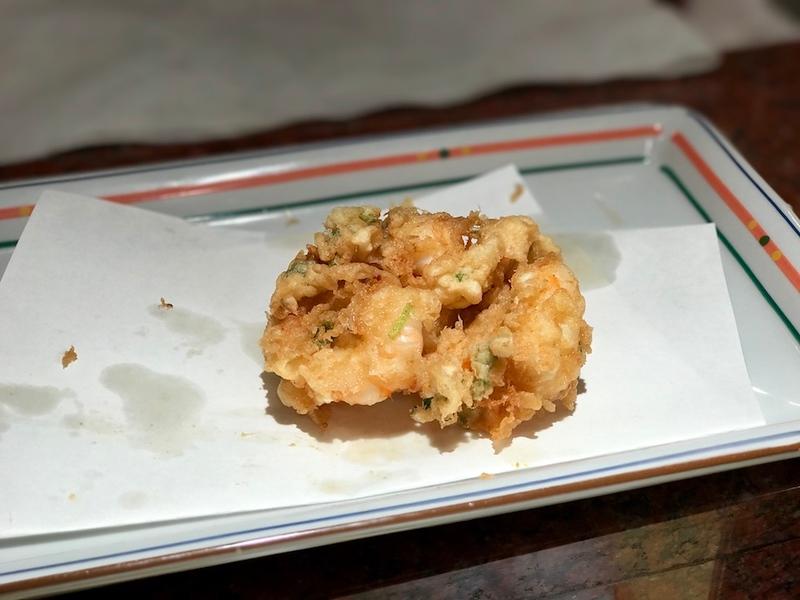 Tempura kakiage - a beautiful fritter.
