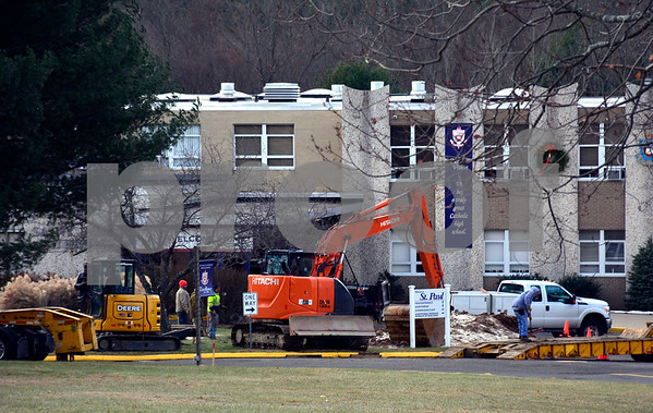 12/20/2017 Mike Orazzi | Staff St. Paul Catholic High School was closed Wednesday because of a water main break.