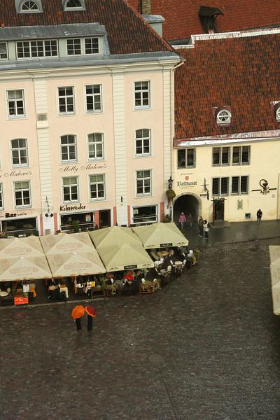 Loved the ladies with the orange umbrellas! -Tallinn, Estonia