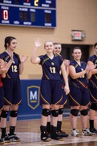 Women's Volleyball vs Mount Mary Sr. Night 2021