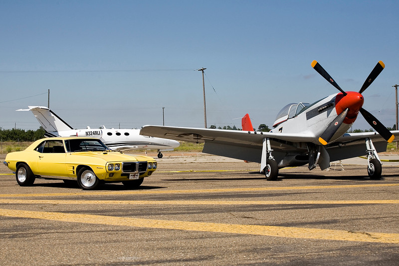 1969 Firebird and P-51 Mustang