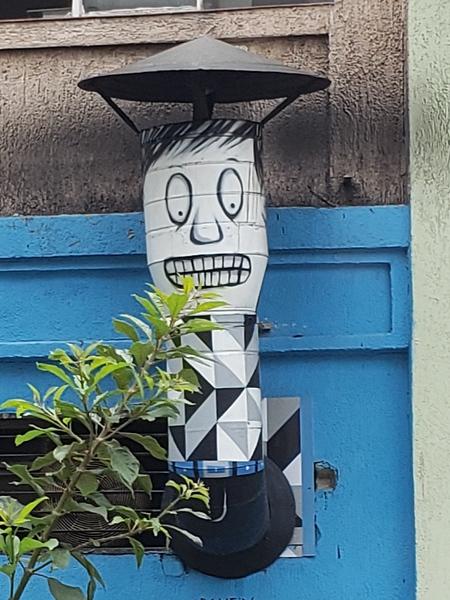 building artwork around Sao Paulo