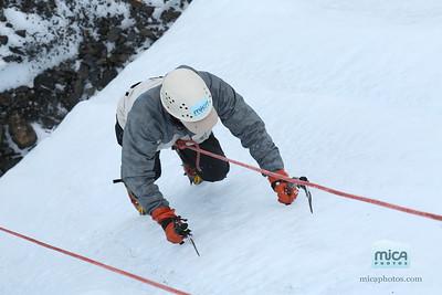 Sarah and Chris - Ice Climbing