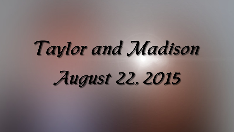 Taylor and Madison Wedding Slideshow