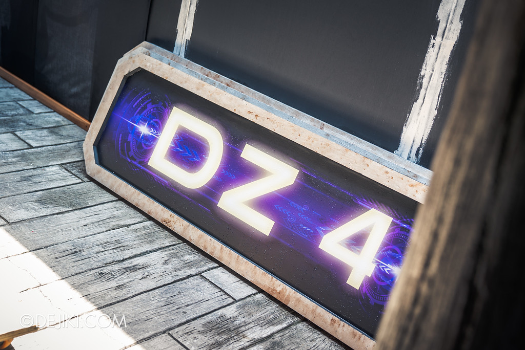 Halloween Horror Nights 7 Before Dark 2 Preview Update / Zombie Laser Tag scare zone - hidden sign DZ4