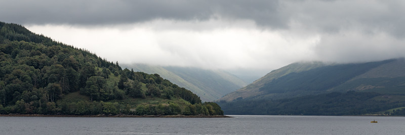 Loch on the way from Glasgow to Oban