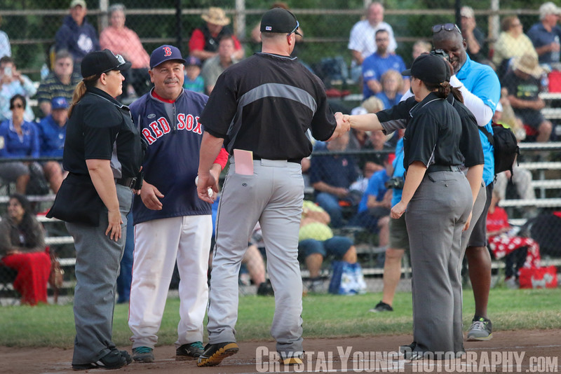Kitchener Panthers at Brantford Red Sox Country Night First IBL All-Female Umpiring Crew July 9, 2016