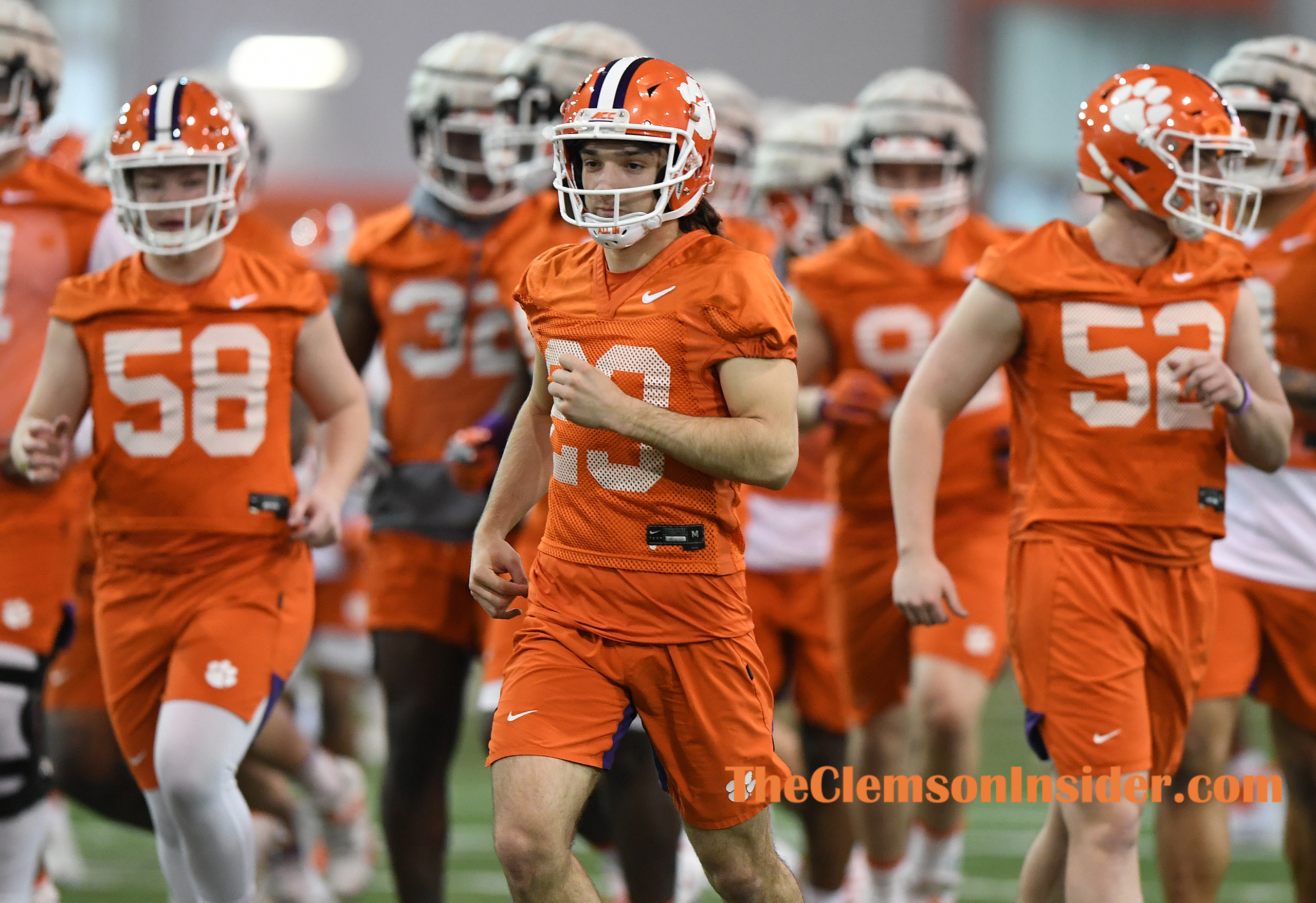 Clemson place kicker B.T. Potter (29) during the Tiger's spring practice Wednesday, February 26, 2020. Bart Boatwright/The Clemson Insider