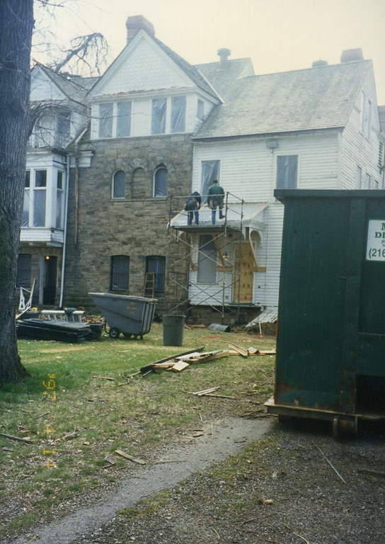 . Renovations at the James A. Garfield National Historic Site. (courtesy James A. Garfield National Historic Site)
