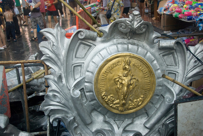 Shot of the paraphernalia for the 2010 Songkran Festival