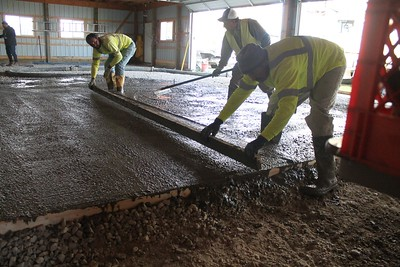 Pouring the Barn Floor - October 17, 2020