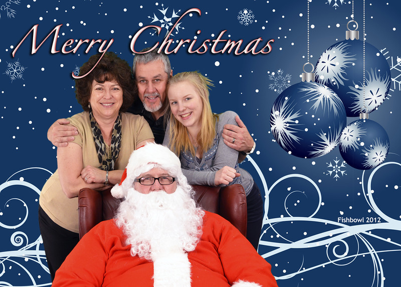 2012-12-13 ––– You know it is Christmas when Fishbowl has their family Christmas photos with Santa. With Pilvi in town from Finland for the holidays we got her into a photo with Lisa and I. Santa is my good friend Rick Weiss. He is our designer at Fishbowl.
