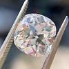 2.24ct Antique Cushion Cut Diamond, GIA M VS2 3