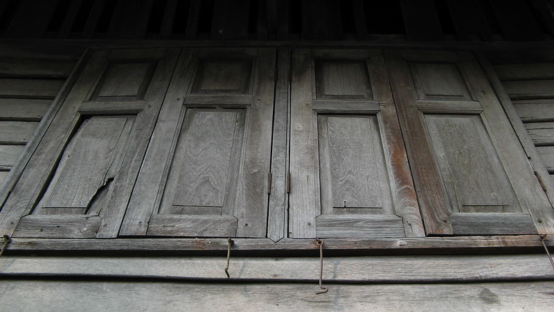 Wooden building on Sarasin, opposite Lumphini Park.